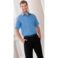 ID636 MENS SS POLYCOTTON POPLIN SHIRT