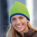 ID743 BEANIE WITH CONTRASTING BORDER