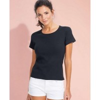 ID11830 LADY O WOMEN'S ROUND COLLAR T-SHIRT